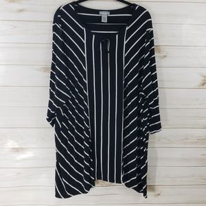 Catherines Black/ White Striped Tunic SZ: 4X